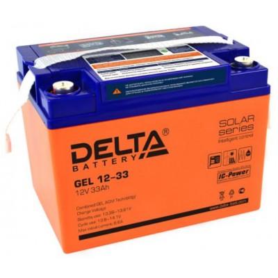 AGM аккумулятор Delta GEL 12-33